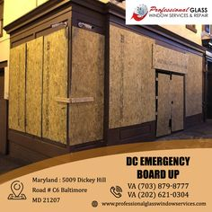 Professional Glass Window Services and Repair is a well-known service provider for the best and most reliable emergency board up service. For Emergency board up services at affordable prices and fast services, visit us today. #emergencyboardup #DCemergencyboardup #CommercialGlassRepair #DCResidentialglassrepair #BrokenShowerDoorRepair #PatioDoorGlassRepair #ShowerDoorRepair #Washington #DC Window Repair, Falls Church, Glass Repair, Broken Glass, Patio Doors, Good Company, Washington Dc, Commercial, Boards