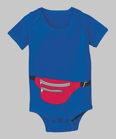 Royal Blue Fanny Pack Bodysuit
