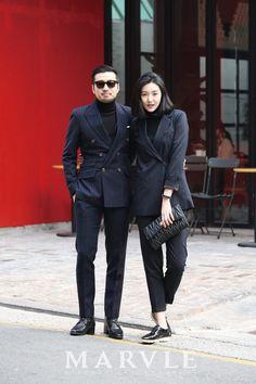 [On The Street Fashion] MARVLE MAGAZINE / 마블매거진 / 패션매거진 / 마블잡지 / 패션잡지 / 스트릿패션/Suit/여자수트/커플수트/커플룩/테일러/클래식수트/미니멀수트/MARVLE : 네이버 블로그