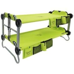 Camper Makeover Discover Kid-O Lime Green Kids Cot Bunk Bed Top Camping, Camping Table, Camping Games, Camping Checklist, Camping Essentials, Camping With Kids, Camping Equipment, Family Camping, Camping Gear