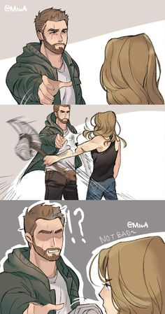 "From trailer I call it ""thor & carol lost scene"" by Yoru Akira on twitt… - Marvel - Game of Thrones Marvel Dc Comics, Marvel Heroes, It Comics, Funny Marvel Memes, Marvel Jokes, Captain Marvel, Captain America, Loki Marvel, The Avengers"