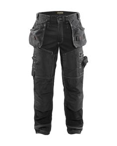 Mens Work Wear Reflective Thermal Quilted Fleece Lined Pocket Combat Trousers
