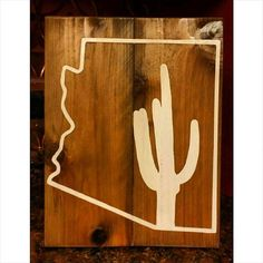 Arizona state outline 11x14 sign. by Backporchsittin on Etsy