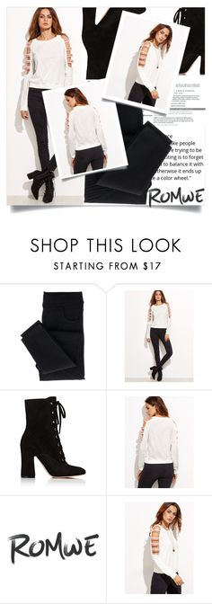 """""""ROMWE"""" by bihisahi ❤ liked on Polyvore featuring Gianvito Rossi"""