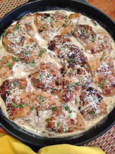 Gluten Free Chicken Asiago with Mushrooms | Gluten Free Recipes+