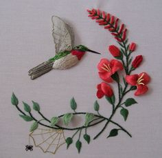 Hummingbird and Honeysuckle   Flickr - Photo Sharing!