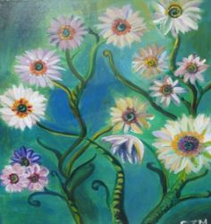 PINOT'S PALETTE STATEN ISLAND. PAINT. DRINK. HAVE FUN  Vintage Daisies