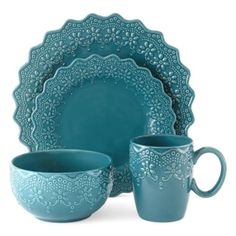 I'd eat anything you serve me in these plates #AD JCPenney Home™ Chantilly Lace 16-pc. Dinnerware Set  found at @JCPenney