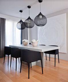 MODERN DINING ROOM    a modern decor, simple with beautiful furniture and light pendants   www.bocadolobo.com #diningroomdecorideas #moderndiningrooms