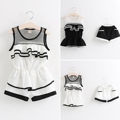 Baby Girls Summer Ruffles Shirts + Patchwork Shorts Outfits Sets Cute Kid Girl Mesh Ruffles Stylish Tops + Shorts Casual Outfits Online with $10.02/Piece on Smartmart's Store | DHgate.com