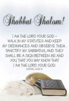 Shabbat Shalom! ~ Ezekiel 20:20-21