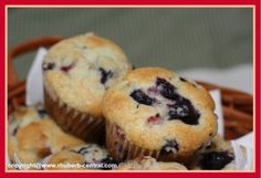 Rhubarb Muffins / Blueberry Rhubarb Muffins-i will make these for Emily...next weekend :)