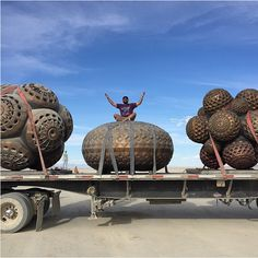 Mars-1 arrives at Burning Man with his latest Bronze sculptures.   https://instagram.com/hifructosemag/