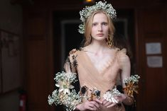 Backstage at Rodarte RTW Spring 2018 Fall Shows, Beauty Industry, Little Red, Backstage, Flower Girl Dresses, Victorian, Couture, Wedding Dresses, Spring