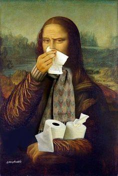 Mona and I both have a cold. I know exactly how she feels.