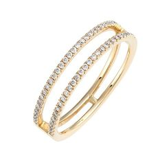 Bony Levy Diamond Stack Ring ($995) ❤ liked on Polyvore featuring jewelry, rings, yellow gold, stacking rings jewelry, 18k ring, stackers jewelry, stackable diamond rings and 18k diamond ring