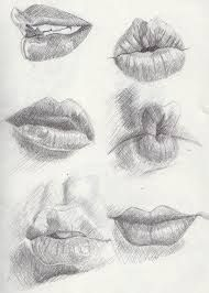 lip bite drawing - Google Search
