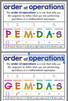 Math Helper, Sixth Grade Math, Math Charts, Maths Solutions, Order Of Operations, Math Journals, Homeschool Math, Guided Math, Math Classroom