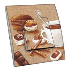 Interrupteur décoré Gourmandises / Café gourmand simple - Decorupteur