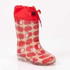 Kids Apple Rain Boots