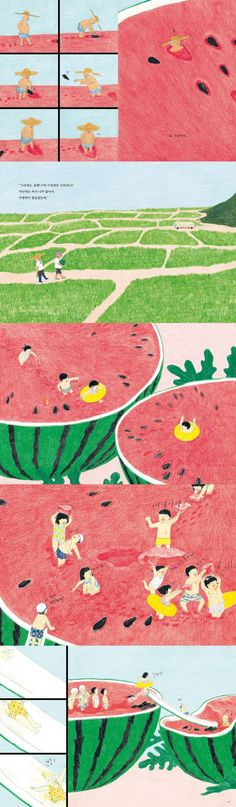 Watermelon swimming pool by Bonsoir lune: