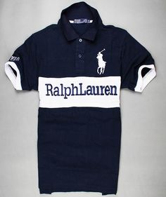 7b917ca8c3c9 Polokey Chest-Stripe Big Pony navy-white 2013PRL55 · Ralph LuarenEighth  GradePolo T ShirtsNavy ...