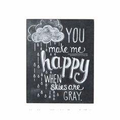 You Make Me Happy Print - Nursery Art - Chalkboard Art - Chalk Art - Chalkboard Print. via Etsy. Vintage Chalkboard, Chalkboard Designs, Chalkboard Quotes, Chalkboard Ideas, Chalkboard Lettering, Chalkboard Doors, Lettering Art, Sign Quotes, Typographie Logo