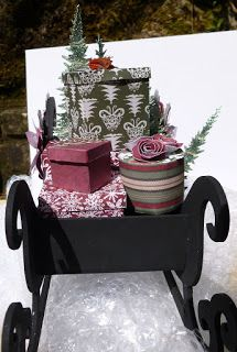Jennifer's Crafting Rainbows : Let It Snow MDF Santa Sleigh, a' Sneaky Peek.' Mdf Christmas Decorations, Let It Snow, Let It Be, Santa Sleigh, Rainbows, Decorative Boxes, Crafting, Crafts To Make, Crafts