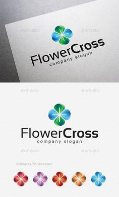 Flower Cross Logo — Vector EPS #choir #company • Available here → https://graphicriver.net/item/flower-cross-logo/10122871?ref=pxcr