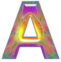 Oh my Alfabetos!: Alfabeto hippy de colores y letras grandes.
