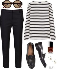 How to wear black pants work outfits minimal chic Ideas for 2019 Fashion Mode, Work Fashion, Style Fashion, Fashion Black, Monochrome Fashion, Classic Fashion, Dress Fashion, Fashion Outfits, French Street Fashion