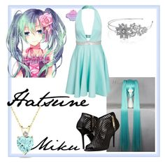 """""""Hatsune Miku"""" by etoyoshimura ❤ liked on Polyvore featuring Te Amo, Burberry, Bling Jewelry, vocaloid, Hatsune and miku"""