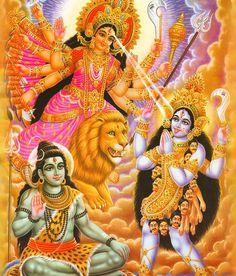 Lord Shiva, Ma Durga and Ma Kali