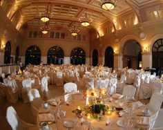 Happily Ever After Photography of a wedding reception in the Great Hall @ The Renaissance Minneapolis Hotel, The Depot http://www.marriott.com/hotel-weddings/mspdd-renaissance-minneapolis-hotel-the-depot/modules/weddings/home-page.mi