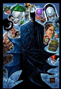 Batman & Rogues by Ethan van Sciver