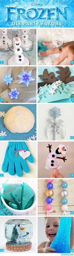 Frozen party favor ideas! #frozenparty