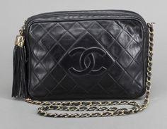 Chanel - Black Lambskin Tassel Camera Bag