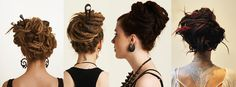 How to make Dreadlock updos | Dreadstuff - tutorials to make almost every dreadlock updo you can think of