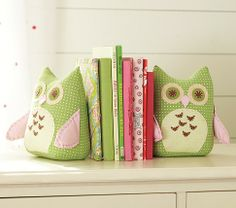 Owl Bookends | Pottery Barn Kids - Really cute for Girls room
