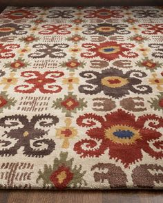 """""""Ikat Fiesta"""" Rug by Safavieh at Horchow.      Possibility for family room makeover."""