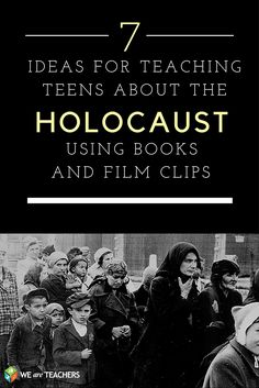 7 Ideas for Teaching Teens About the Holocaust Using Film and Books Teaching young people about Holocaust history can be a complex and highly sensitive task, one that requires a well-planned and well-executed approach. These 7 ideas will help. History Classroom, History Education, History Teachers, Teaching History, Social Studies Notebook, Teaching Social Studies, Help Teaching, Teaching Ideas, The Wave