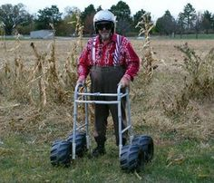 Funny Photo of senior with all-terrain walker - Senior Humor Redneck Party, Redneck Gifts, Senior Humor, Redneck Humor, Old Folks, Old Age, Young At Heart, Aging Gracefully, Getting Old