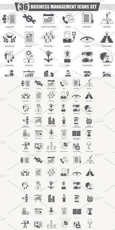 Dark grey classic icon design for web. --- - All graphic is vector, fully editable for any size and color. Type Design, Icon Design, Graphic Design, Icon Collection, Business Icon, Icon Pack, Business Management, Artist At Work, Icon Set