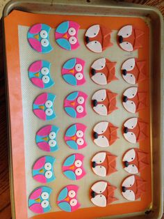 Fox and owl cupcake toppers