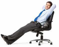 Imagen libre de derechos: Relaxed Young Businessman Isolated