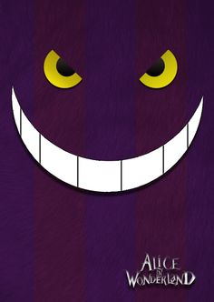 Minimalist Chesire Cat Poster by ~designersantarosa on deviantART