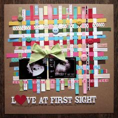 #papercrafting #scrapbook #layout -  Another way to use your scraps.