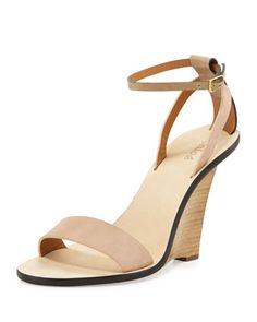 Strappy Ankle-Wrap Floating Wedge Sandal by Chloe at Neiman Marcus. (wish these weren't $700)