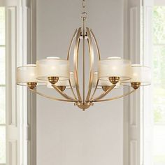 "Possini Euro Alecia 34"" Wide French Gold Chandelier - #V8317 