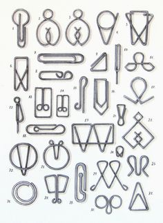 Ppaperclips. I love that the French word for paperclip is trombone.